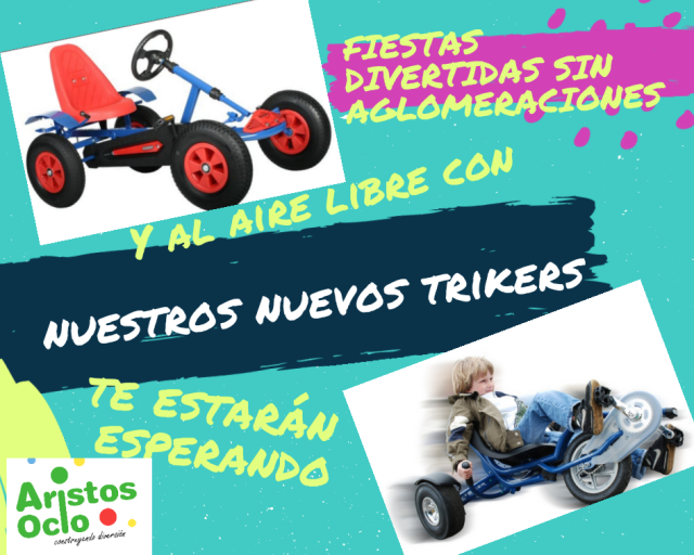 cartel trikers y karts
